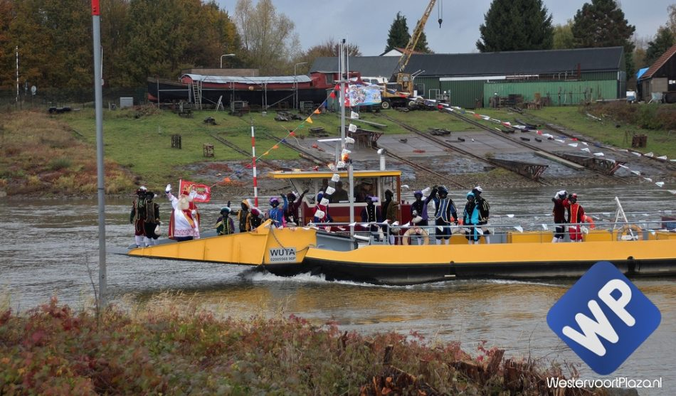 Sinterklaas komt 25 november per boot aan in Westervoort