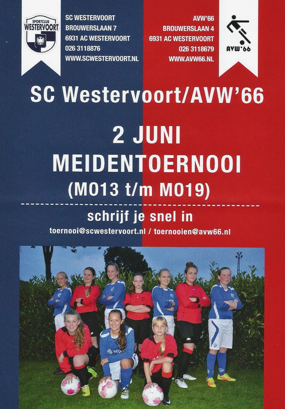 Meiden voetbaltoernooi in Westervoort