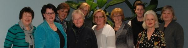 Westervoortse vrouwelijke politici samen op de foto in het kader van Internationale Vrouwendag.