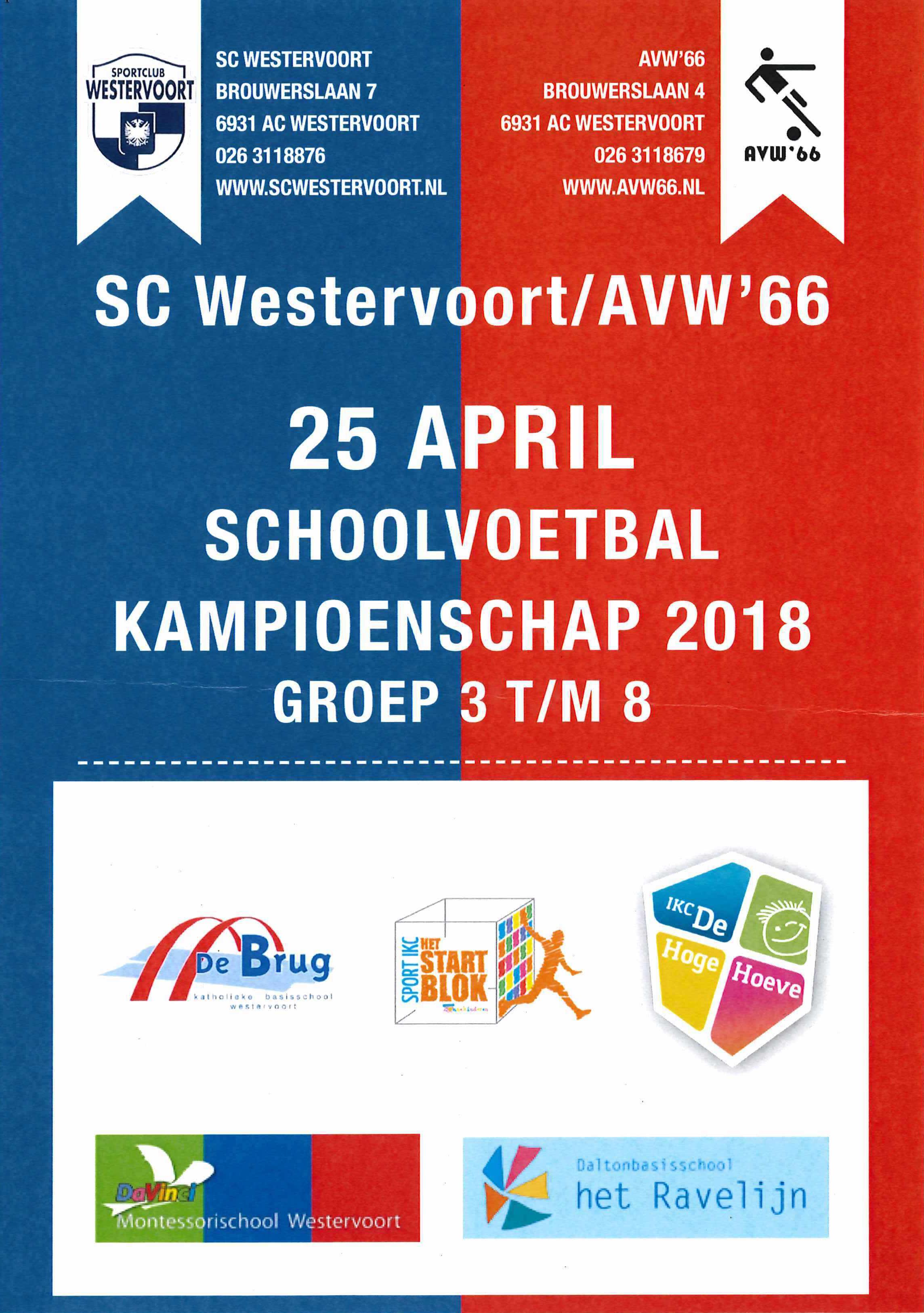 Westervoorts schoolkampioenschap voetbal