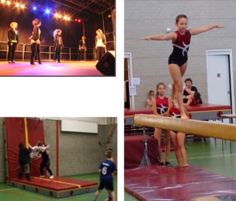 Uitvoering van leden gymnastiekvereniging Aldo Westervoort