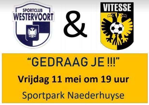 Sportclub Westervoort vraagt om respect