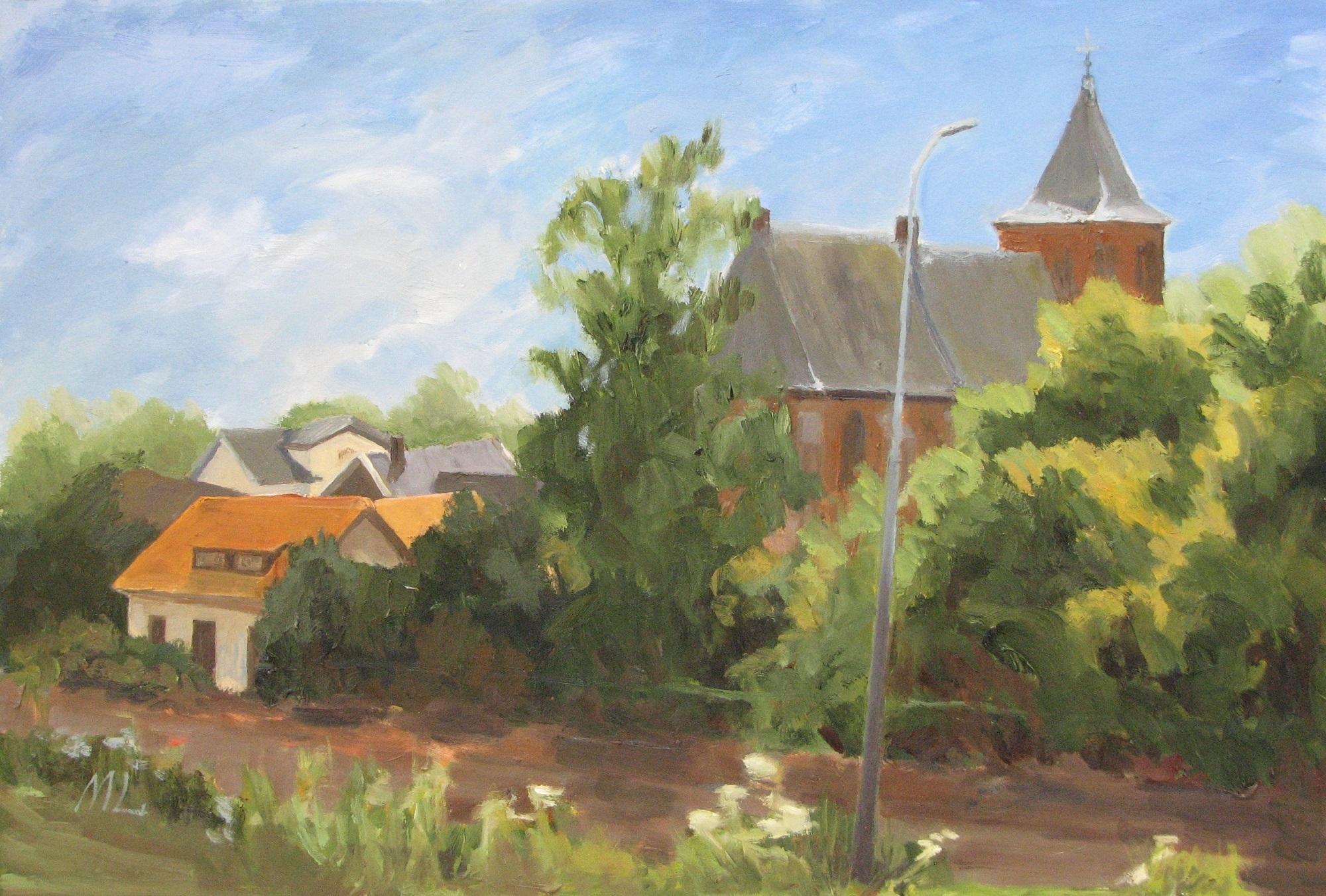Expositie schilderijen van Marieke Laverman in de Werenfried-kerk.