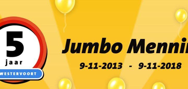 Jumbo Mennings viert 5- jarig bestaan