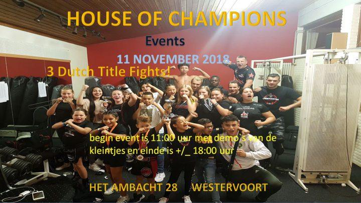 2e editie van House of Champions bij Sportcentre Westervoort