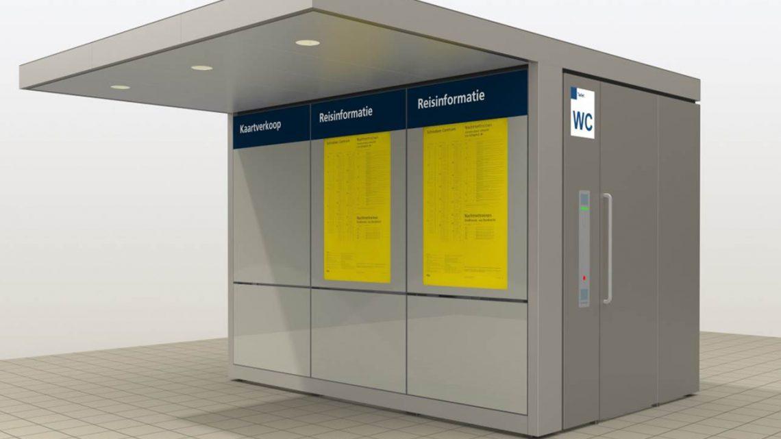 Mini Service Station met toilet op het station in Westervoort