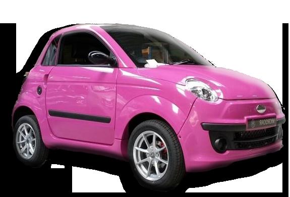 Roze Microcar Dué gestolen