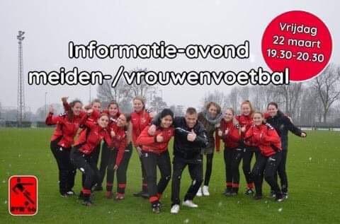 Tweede informatieavond Dames/meiden voetbal Avw'66