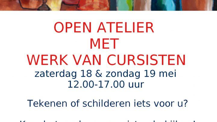 Open atelier met expositie op 18 en 19 mei