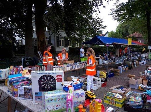 Rommelmarkt fanfare OBK tijdens Zomerfair Westervoort