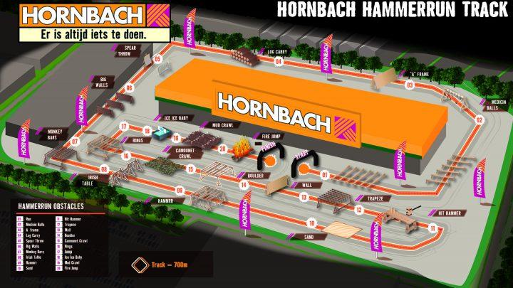Obstacle run bij Hornbach Duiven