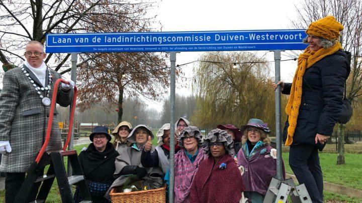 Langste straatnaam van Nederland staat in het Horsterpark in Duiven!