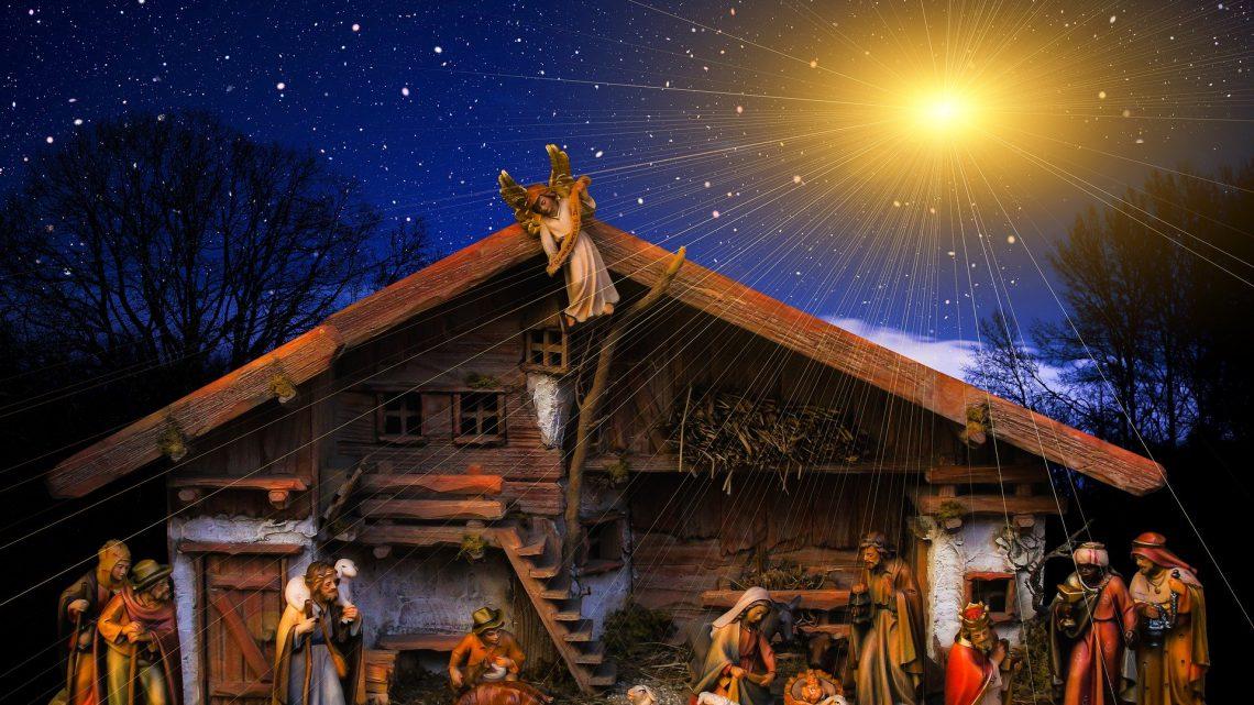 Levende kerststal tijdens de kerstmarkt in Westervoort