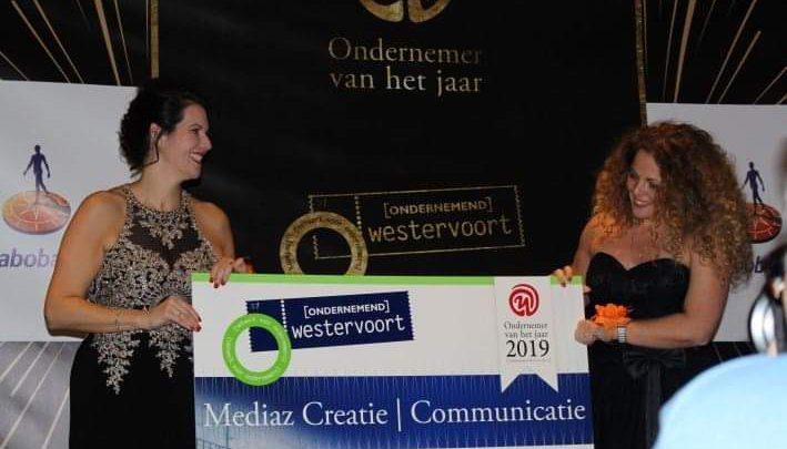 Mediaz Creatie | Communicatie verkozen tot ondernemer van het jaar 2019.