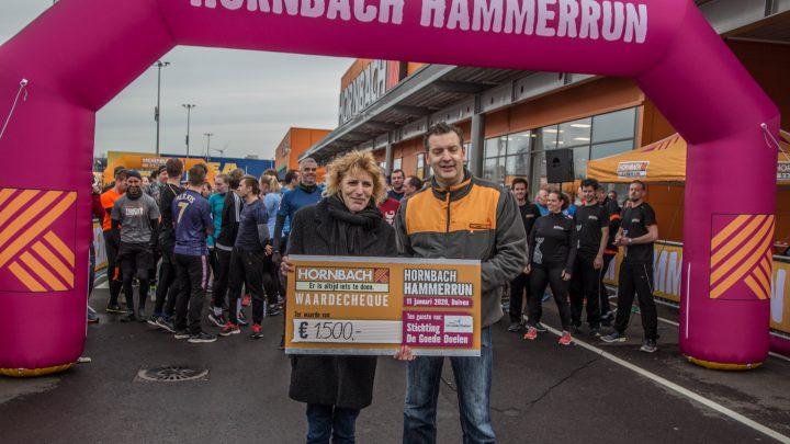 Hornbach Hammerrun levert 1500 euro op voor Stichting de goede doelen Duiven en Westervoort