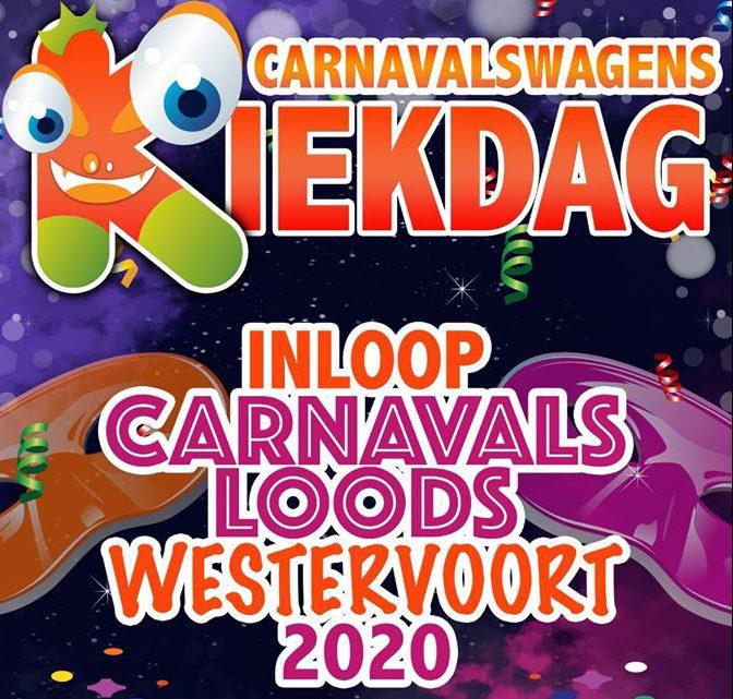 Kiekdag in de carnavalsloods