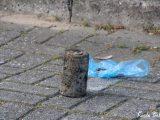 Magneetvisser vist landmijn uit het water