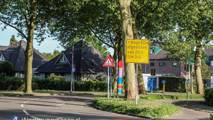 'T Hoge Eind afgesloten van 25 mei t/m 5 juni i.v.m. asfalteringswerkzaamheden