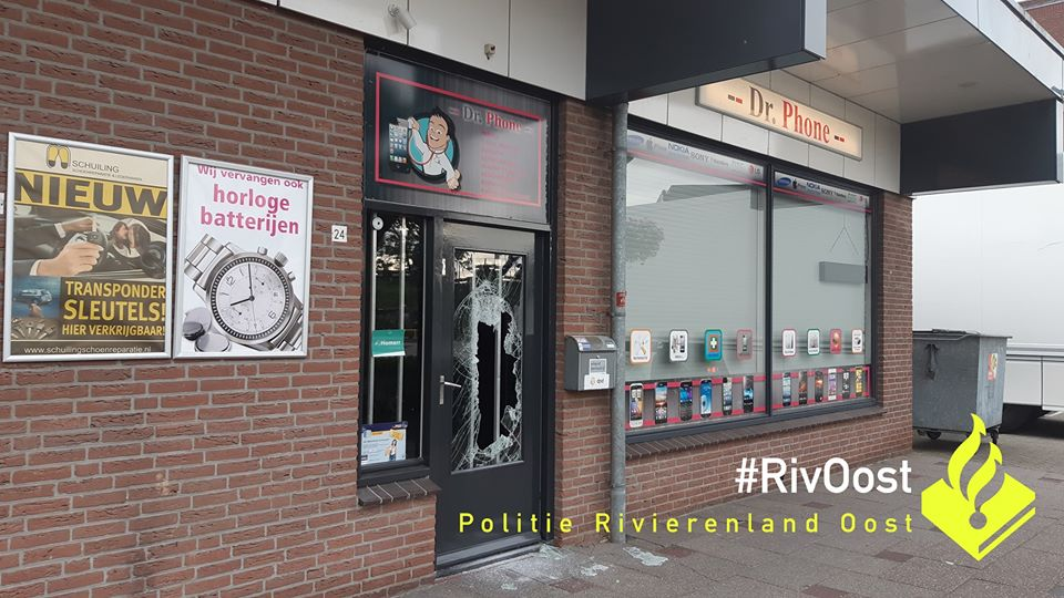 Inbraak in telefoonwinkel in Westervoort