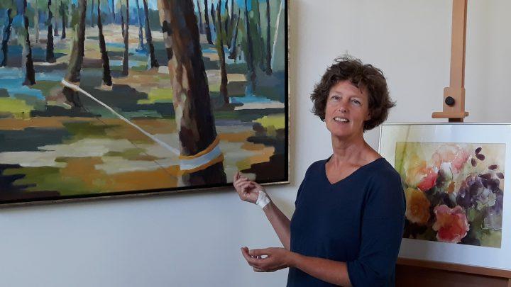 Marieke Laverman toont nieuw werk in atelier.