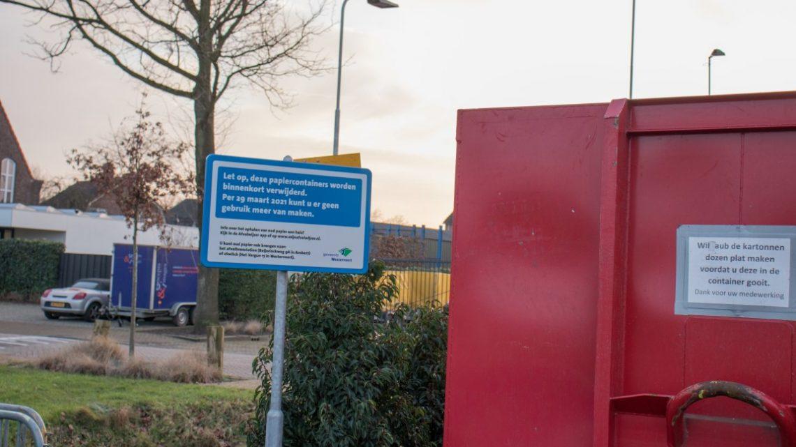 De PvdA vraagt zich af waarom de oud-papiercontainers weg moeten