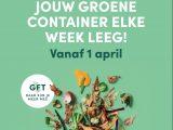 Campagne en wekelijks legen groene container in strijd tegen restafval