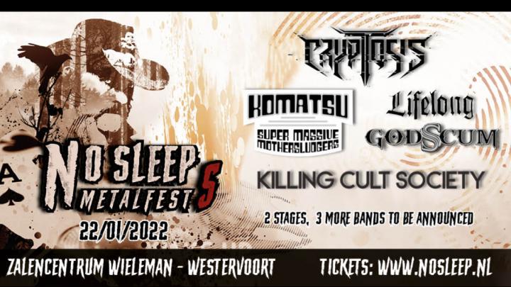 Voor de vijfde keer No Sleep Metalfest bij zalencentrum Wieleman