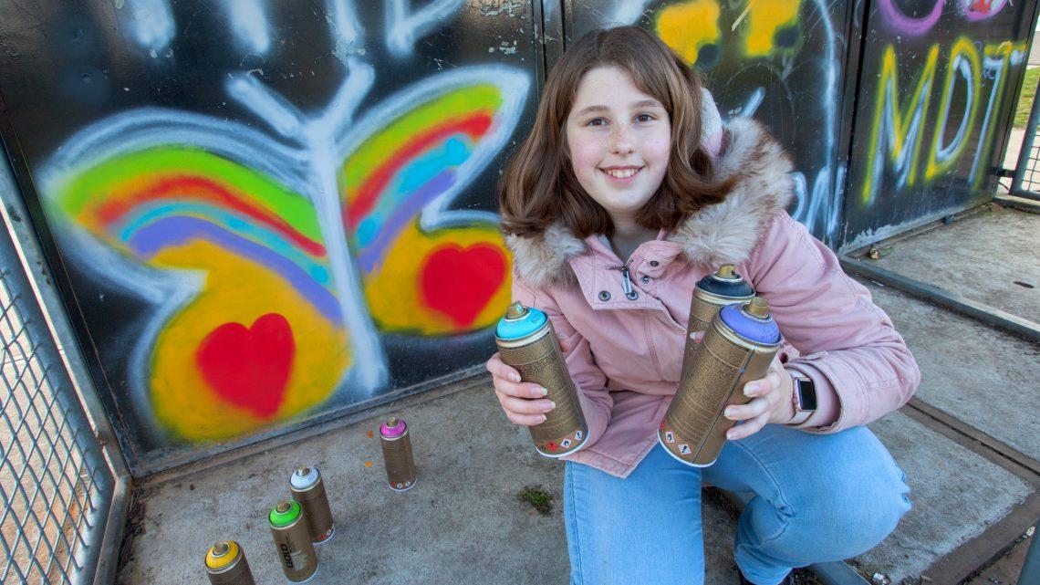 Workshop graffiti spuiten bij de Creon