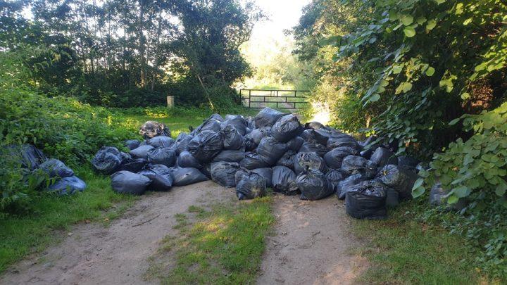 Illegale dumping van afval van wietplantage in Westervoort